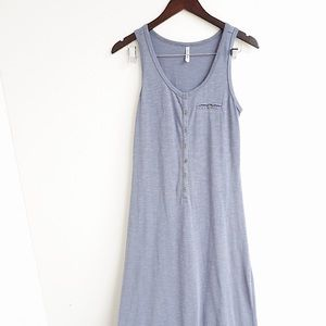 GENTLE FAWN DUSTY BLUE BUTTON UP MAXI DRESS 🦋